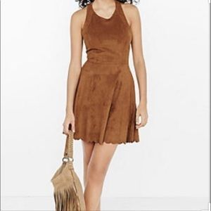 Express brown suede dress